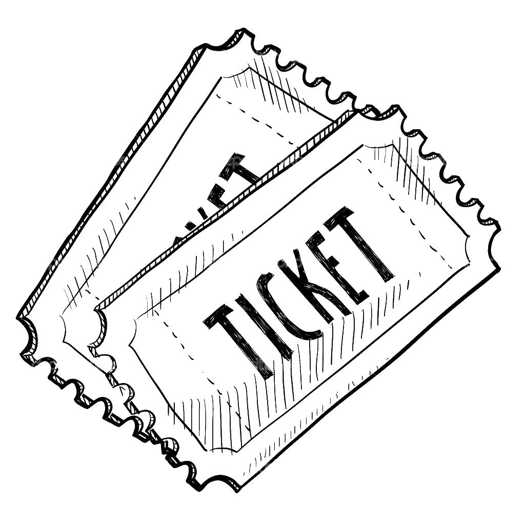 Раскраски билетов